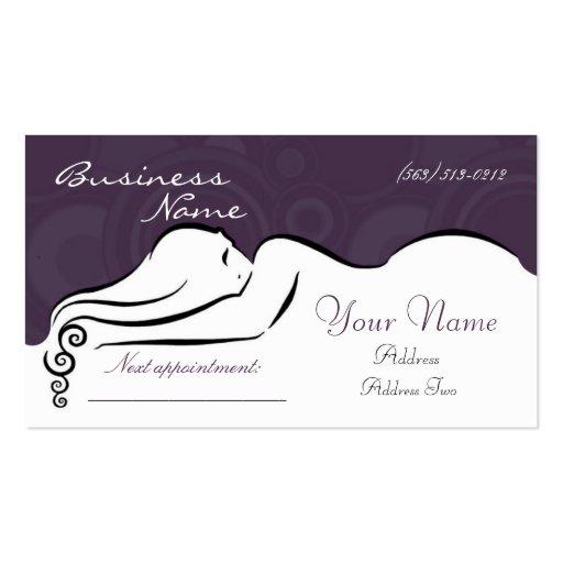 Darla's [purple] Business Cards