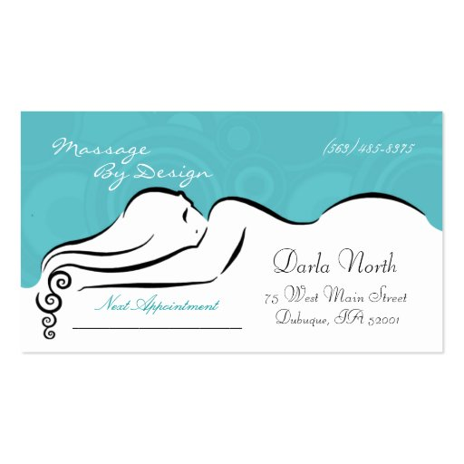 Darla's  [spa blue] Business Cards