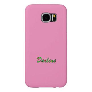 Darlene Customized Pink Style Galaxy S6 case