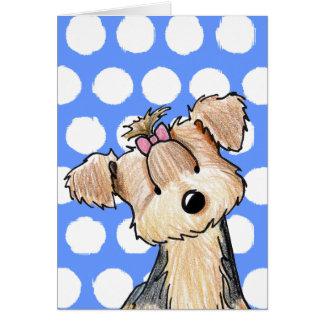 Darlin' May Yorkie Terrier Greeting Card