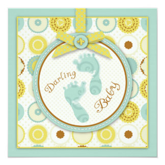 Darling Baby Toes Invitation Square