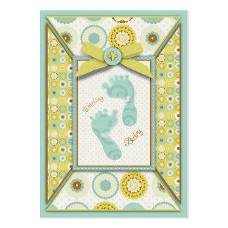 Darling Baby Toes Reminder Notecard Large Business Cards (Pack Of 100)