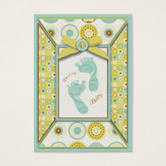 Darling Baby Toes Reminder Notecard Business Card
