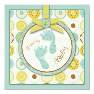 Darling Baby Toes Square Card Announcements
