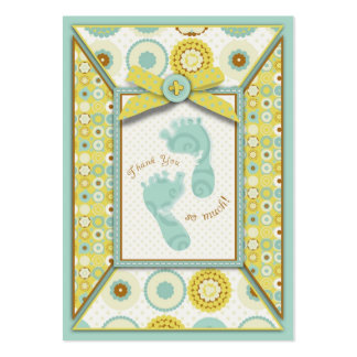 Darling baby Toes TY Gift Tag Large Business Card