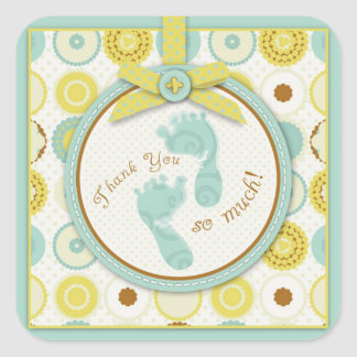 Darling Baby Toes TY Square Sticker