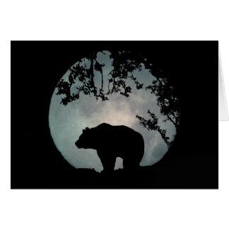 Darling Bear in the Moon Birthday Card