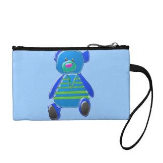 Darling Blue Bear with Sweater Vest Bagettes Bag