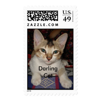 Darling Cat  - Customized Postage Stamp