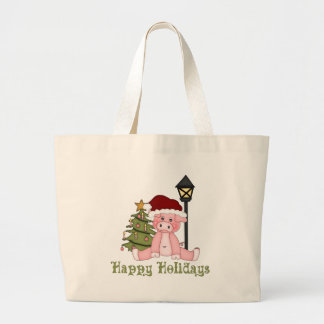 Darling Christmas Holiday Country Pig Tees, Gifts Canvas Bags