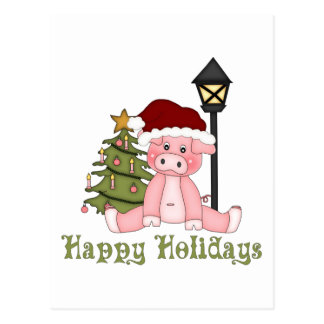 Darling Christmas Holiday Country Pig Tees, Gifts Post Cards