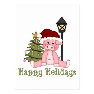 Darling Christmas Holiday Country Pig Tees, Gifts Postcard