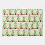 Darling Christmas Trees With Garland Hand Towels