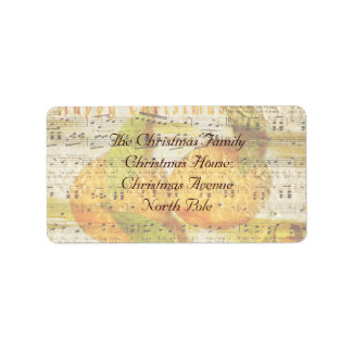 Darling Clementines for Christmas Label