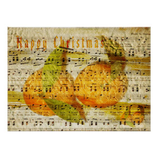 Darling Clementines for Christmas Poster