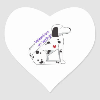 Darling Dalmations Heart Stickers