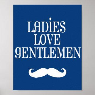 Darling Dapper Ladies Love Gentlemen Nursery Art Print