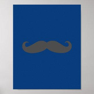 Darling Dapper Mustache Nursery Wall Art Print