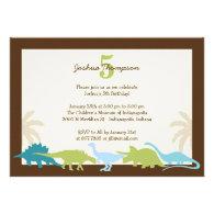 Darling Dinosaurs Birthday Party Invitation