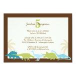 "Darling Dinosaurs Birthday Party Invitation 5"" X 7"" Invitation Card"