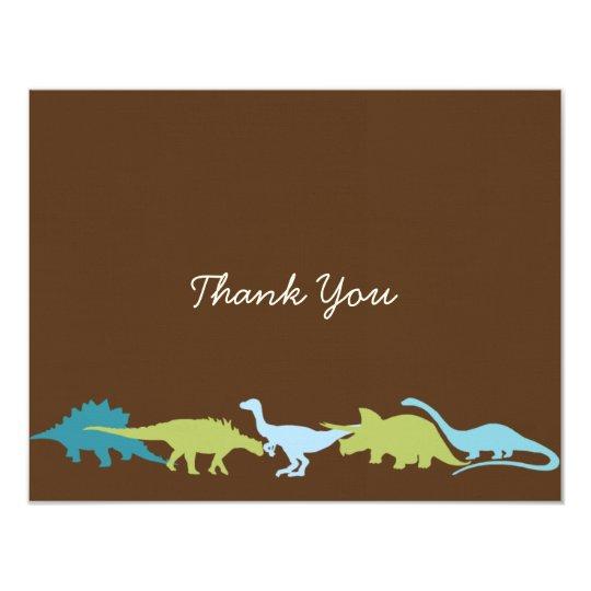 Darling Dinosaurs Thank You Card