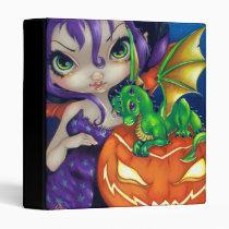 artsprojekt, art, fantasy, eye, eyes, big eye, dragons, dragonling, fairy, moon, green, dragon, halloween, halloween dragon, pumpkin, witch, jack, lantern, jack o'lantern, dragonlings, baby dragon, baby, dragon fairy, big eyed, jasmine, becket-griffith, becket, griffith, jasmine becket-griffith, jasmin, strangeling, artist, goth, gothic, gothic fairy, faery, fairies, faerie, fairie, Fichário com design gráfico personalizado