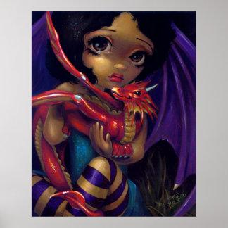 Darling Dragonling I ART PRINT dragon fairy