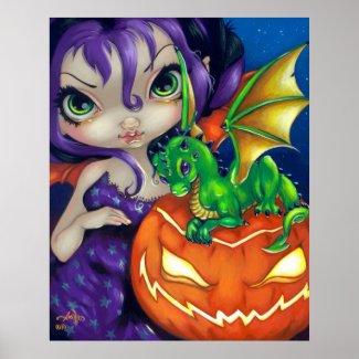 Darling Dragonling II ART PRINT Halloween Dragon