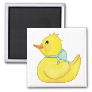 Darling Ducky with Green Ribbon Magnet