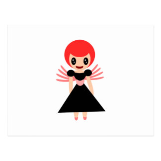 Darling Fairy 72 with red hair Postcard