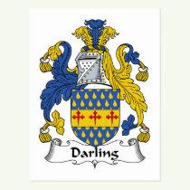 Darling Family Crest Postcard
