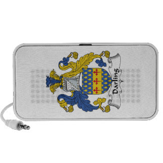 Darling Family Crest iPod Speakers
