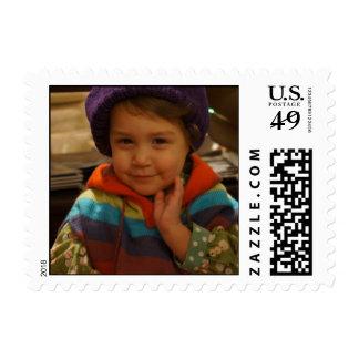 Darling girl poses postage