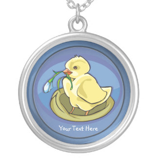 Darling Happy Easter Chick with Flower Necklace
