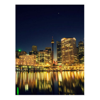 Darling Harbour Sydney Australia City Skyline Postcard