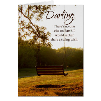 Darling, I Love You Country Swing Card