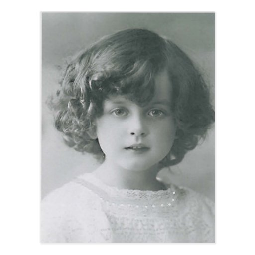 Curly Hair Vintage Style : Darling little girl curly hair vintage style pc postcard