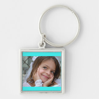 Darling Little Girl on a Square Key Chain