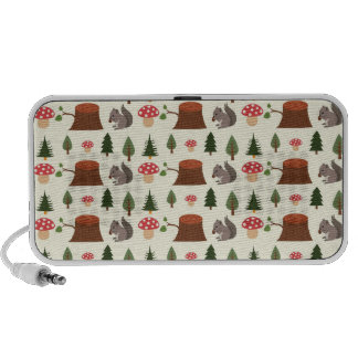 Darling Little Squirrels Notebook Speakers