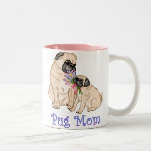 Darling Pug Mom Spring Design Mug
