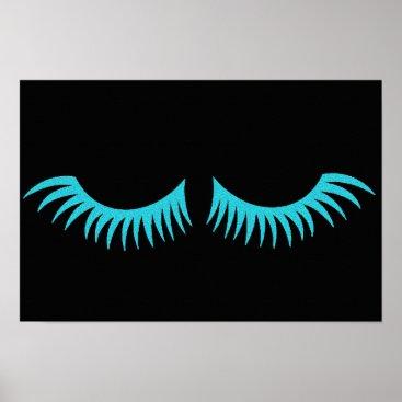 McTiffany Tiffany Aqua Darling Teal Blue Eyelashes Party Poster