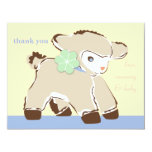 Darling Toy Baby Lamb Note Card Personalized Announcement