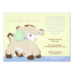 Darling Toy Baby Lamb Shower Invitation