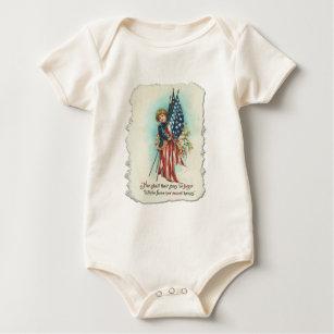 Darling Vintage Americana Design Baby Bodysuit