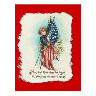 Darling Vintage Americana Design Postcards