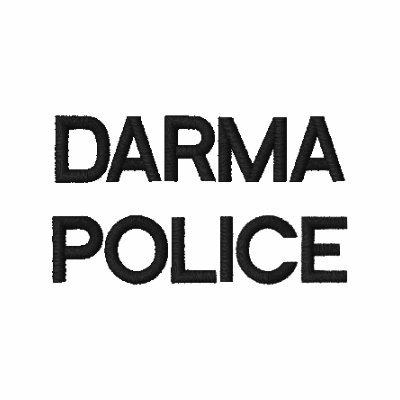 DARMA POLICE EMBROIDERED POLO SHIRT