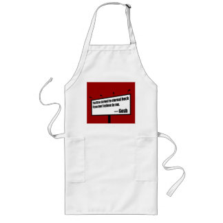 Darned to Eternal Heck funny apron