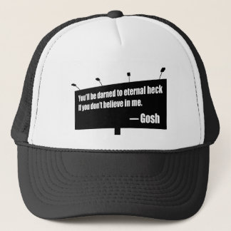 Darned to Eternal Heck funny hat