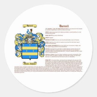 Darnell (significado) pegatinas redondas