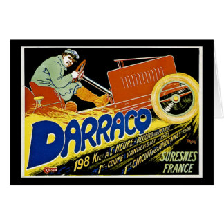 Darraco Vintage Race Car - Suresnes France Card
